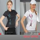 Crozwise Bayan İnterlock Polo T-Shirt   7037