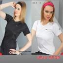 Crozwise Bayan İnterlock V-Yaka T-Shirt   7039